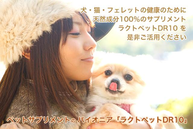 犬・猫の健康のために「ラクトペットDR10」を